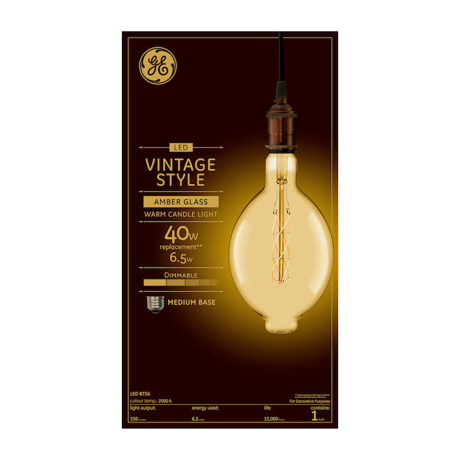 GE LED Bulb - BT56 - 6.5 W - 1/Pck - Candle Light