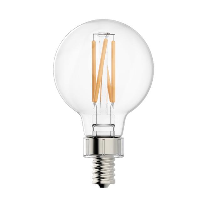 Ampoule DEL GE, G16 CAC, 4 W, 2/pqt, blanc doux
