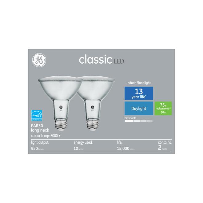 GE LED light bulb indoor floodlight, 75 W, Reveal