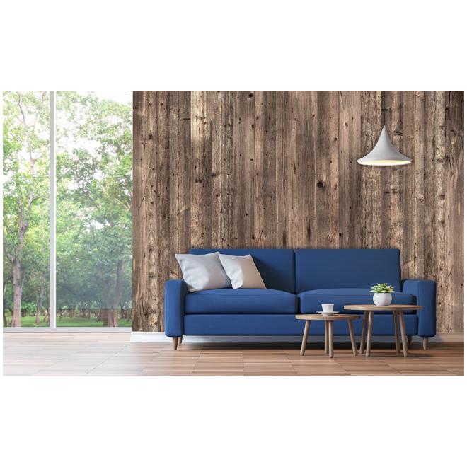 Printed Wood Wall Covering- Barn Wood - Vanilla