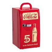 Réfrigérateur compact décoratif rétro, rouge