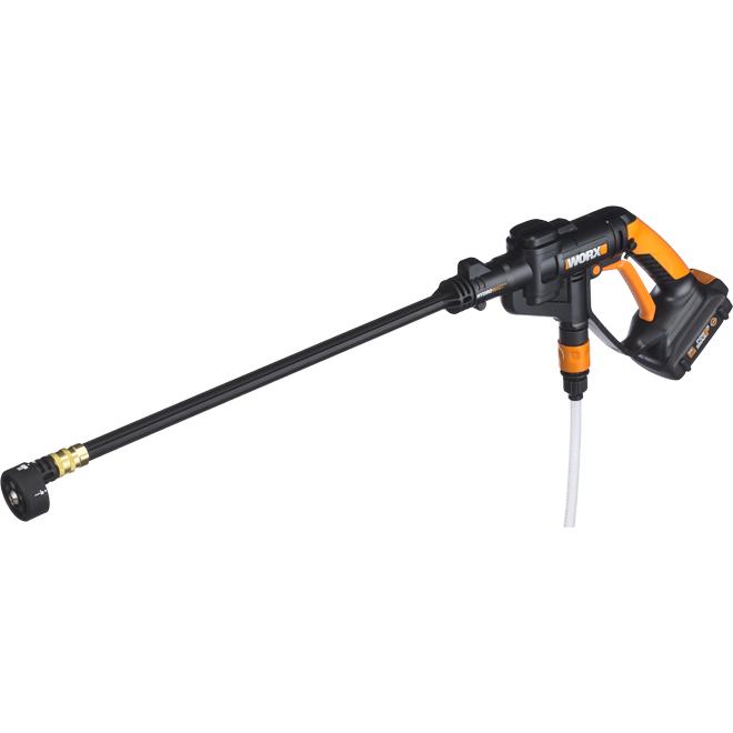 Buse à pression Hydroshot, 20 V, noir et orange