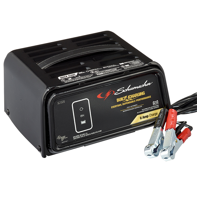 Schumacher(R) Automatic Battery Charger - 2/6 A - 6/12 V