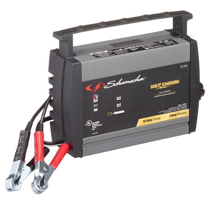 Chargeur de batterie électronique Schumacher(MD), 10 A, 6/12 V