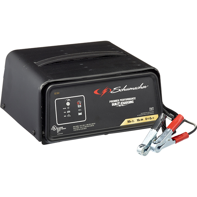 Automatic Battery Charger/Engine Starter - 2/10/50 A - 12 V