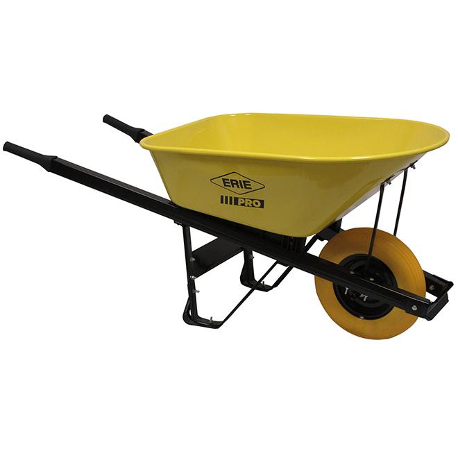 Steel Wheelbarrow - 6 cu. ft. - Extra-Long Handles