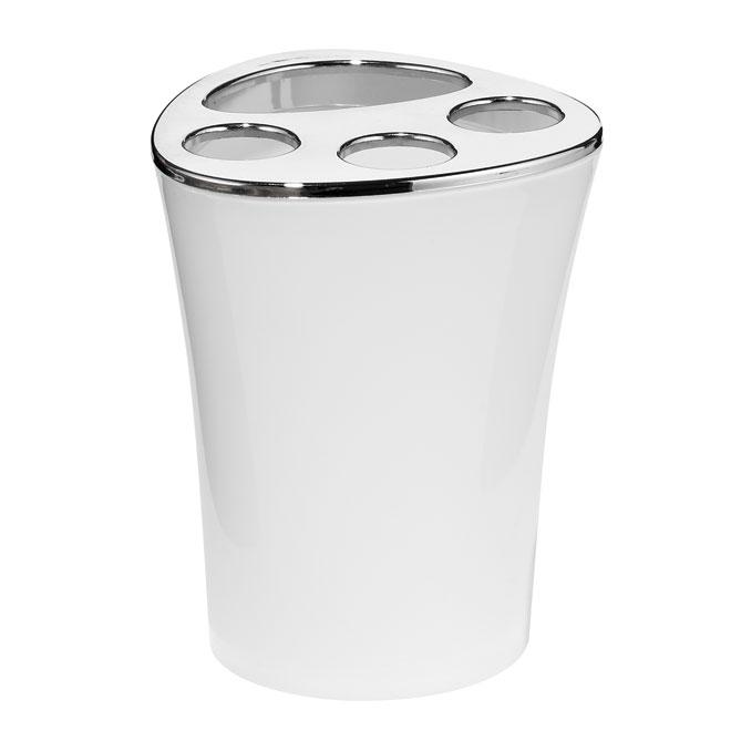 Bathoom Set - 5-Pieces - Plastic - White