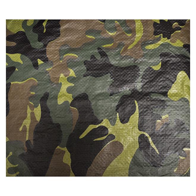 Camouflage Tarpaulin - 15' x 20'