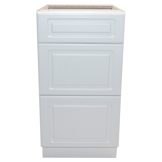 """Base Cabinet - Wilshire - 3 Drawers - 18"""" - White"""