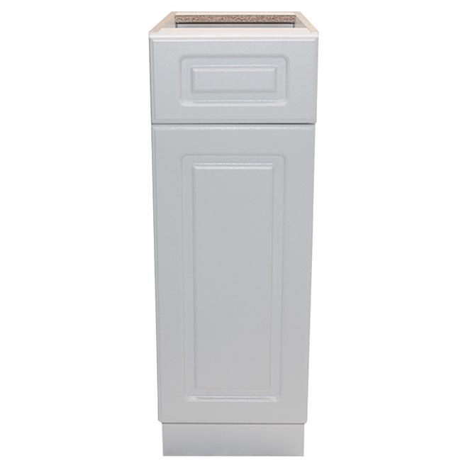 "Base Cabinet - Wilshire - 1 Door, 1 Drawer - 15"" - White"