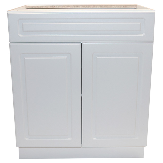 Base Cabinet Wilshire 2 Door 1 Drawer 24 White T Btd 24 Rona