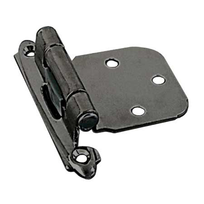 Semi-Concealed Self-Closing Hinge - Brushed Pewter - 2-Pack