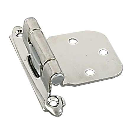 Self-Closing Hinge - Semi-Concealed - 2/PK - Brushed Nickel