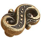 Metal Cabinet Knob - Brass