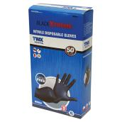 Nitrile Gloves - Black - X-Large - 50-Pack