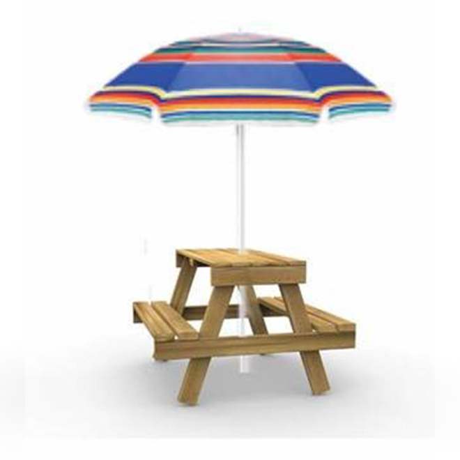 Playstar Kid-Sized Picnic Table with Umbrella