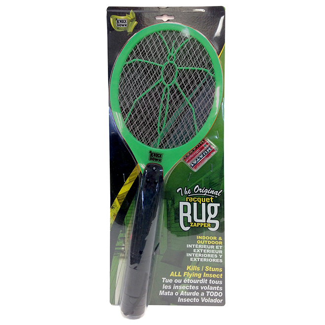 Bug Zapper Racquet - Plastic - Green