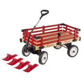 Wood Wagon and Sleigh - 2-in-1 - Red
