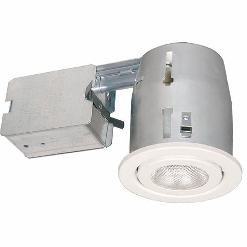 Bazz Recessed Halogen Downlight for Living Room Ceilings - Swivel Head White - 2700-Kelvins - Dimmable - 50-Watt
