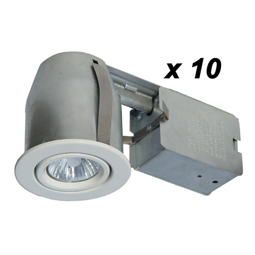 10 halogen recessed lights