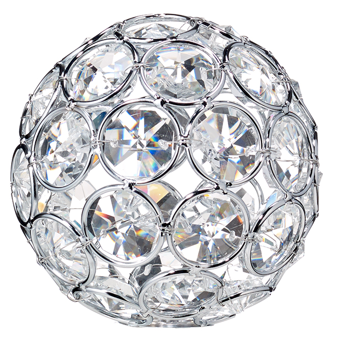 "Bazz ""Lubik"" Frosted Glass Shade - 3.5'' - Crystal"
