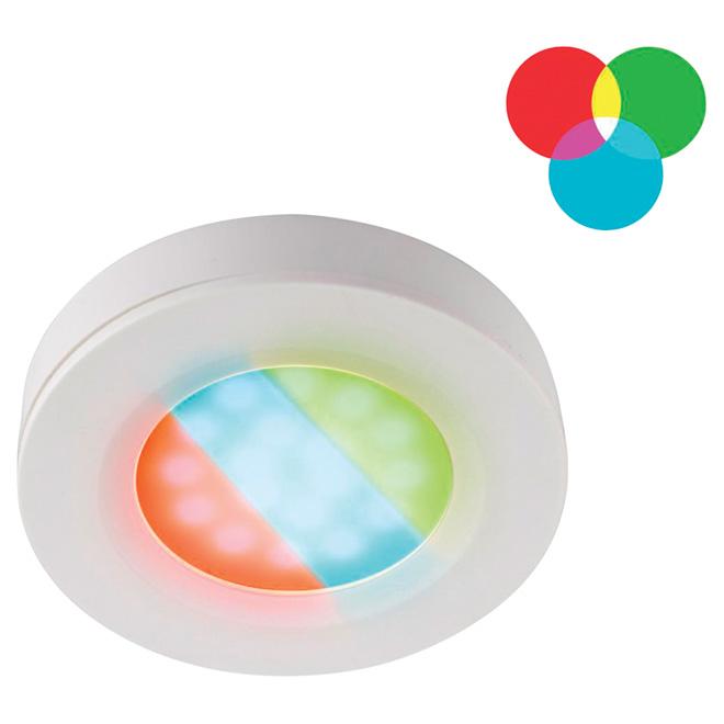 Rondelle DEL multicolore pour éclairage sous le comptoir