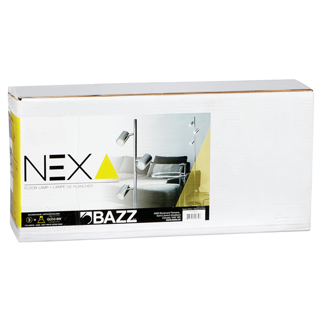 """Floor Lamp 57"""" - Nexa - Chrome"""