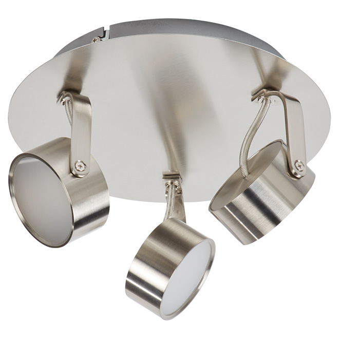 """Focus"" 3-Light LED Ceiling Light - Brushed Steel"