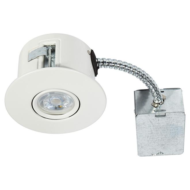 Directional Recessed Light - FLEX - 7W LED - Matte White