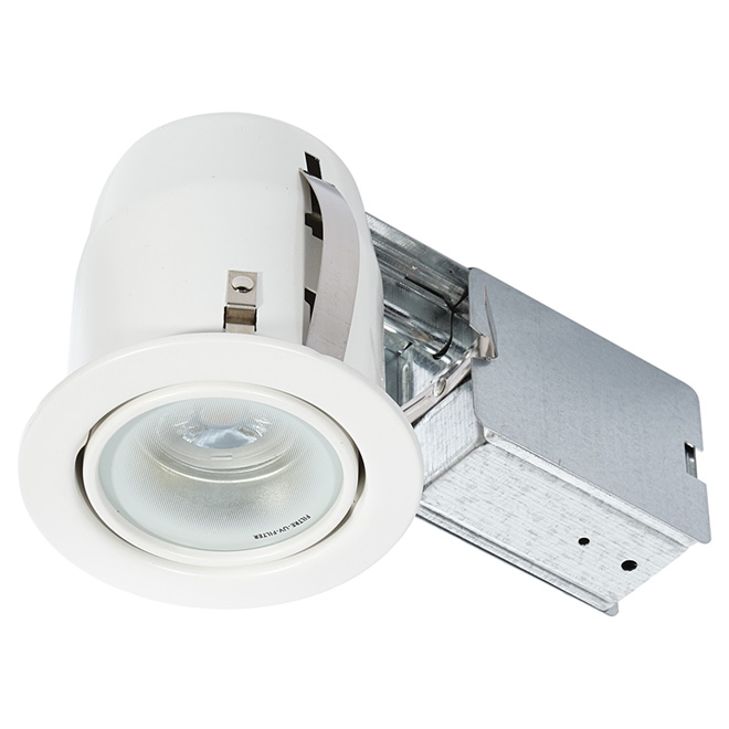 Bazz Studio Retrofit Recessed Bedroom Ceiling Light - 7-Watt Integrated LED on a Swivel - White - 500-Lumens - Dimmable