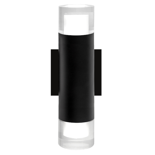 Dimmable Outdoor Wall Sconce - Black - 2x 6 W