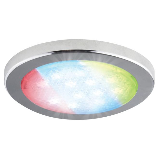 Rondelle d'éclairage sous-comptoir, couleur changeante, DEL
