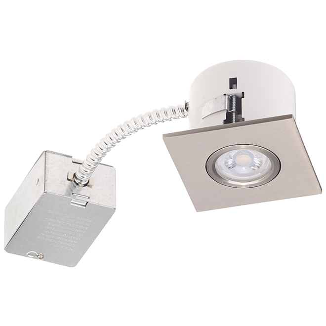 Bazz Square Recessed Track Light with Brushed Chrome Finish - For Retrofit and New Construction - 7-Watt Integrated LED