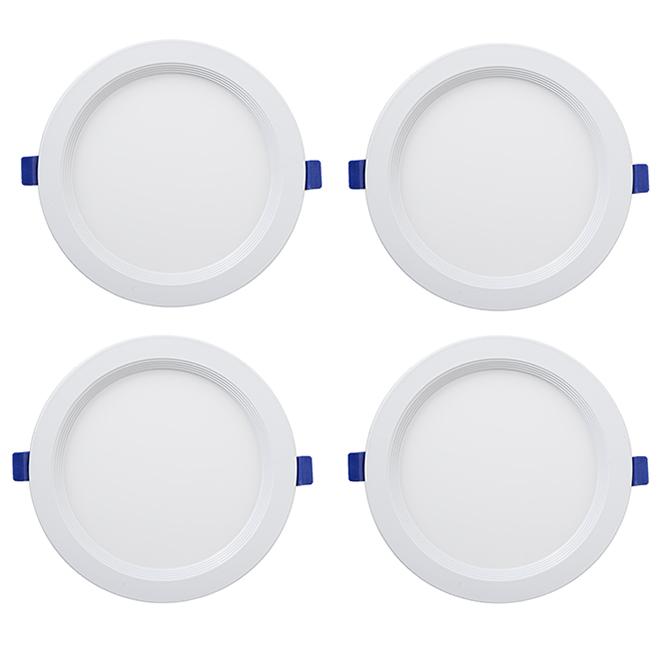 Recessed Light - Slim - 12 W LED - Matte White- 4-Pack