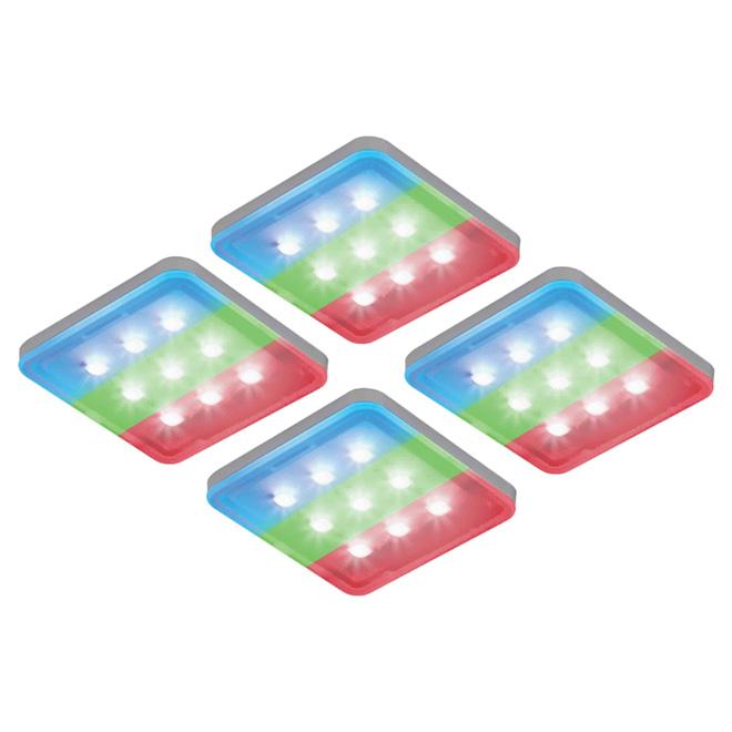 Rondelles d'éclairage sous-comptoir, couleur changeante, DEL