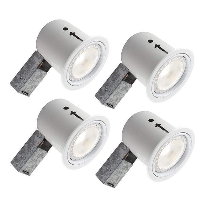 Ensemble de luminaires encastrés BAZZ série 410, 80 watts, intensité réglable, 4 unités, blanc