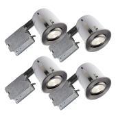 Ensemble de luminaires encastrés BAZZ série 510, 50 watts, intensité réglable, 4 unités, chrome brossé