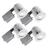 510 Series Dimmable Recessed Light - 8W LED - White - 4/PK