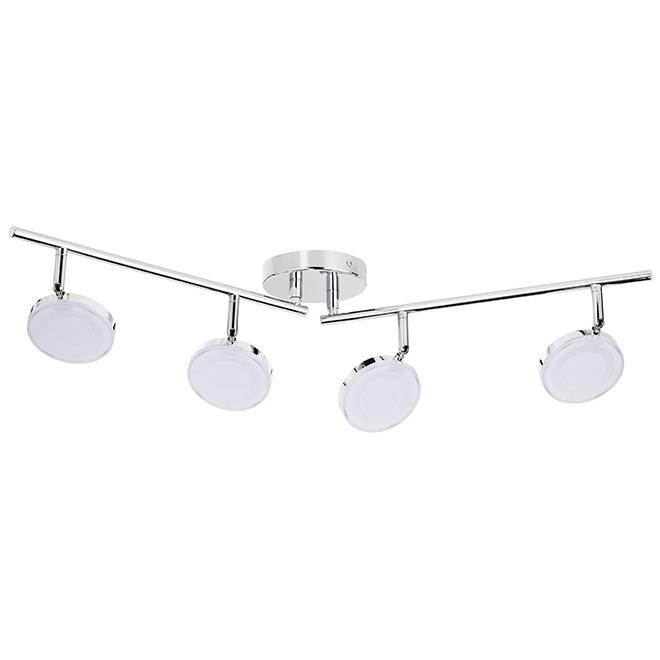 LED 4-Light Track Light - 22 W LED - Chrome