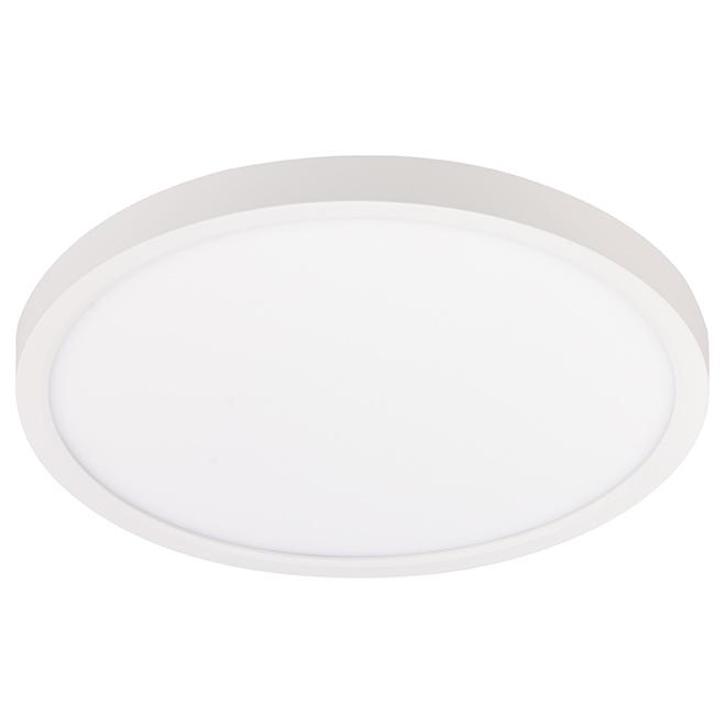 Plafonnier à éclairage DEL intégré, 24W, blanc
