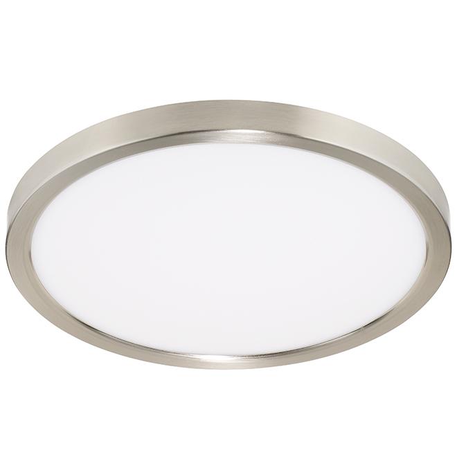 Flush-Mount LED Ceiling Light - Round - 24 W - Chrome