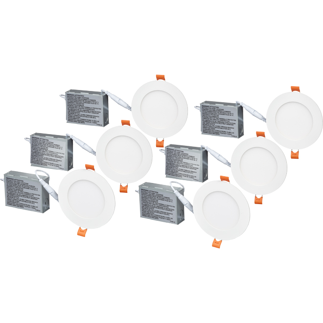 "4 1/4"" LED Recessed Light - 9 W - Matte White - 6/Pack"