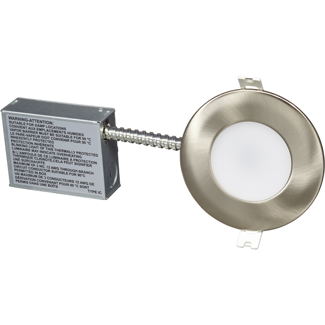 """Recessed LED Light - Wi-Fi Mood - 4"""" - 11 W - Stainless"""