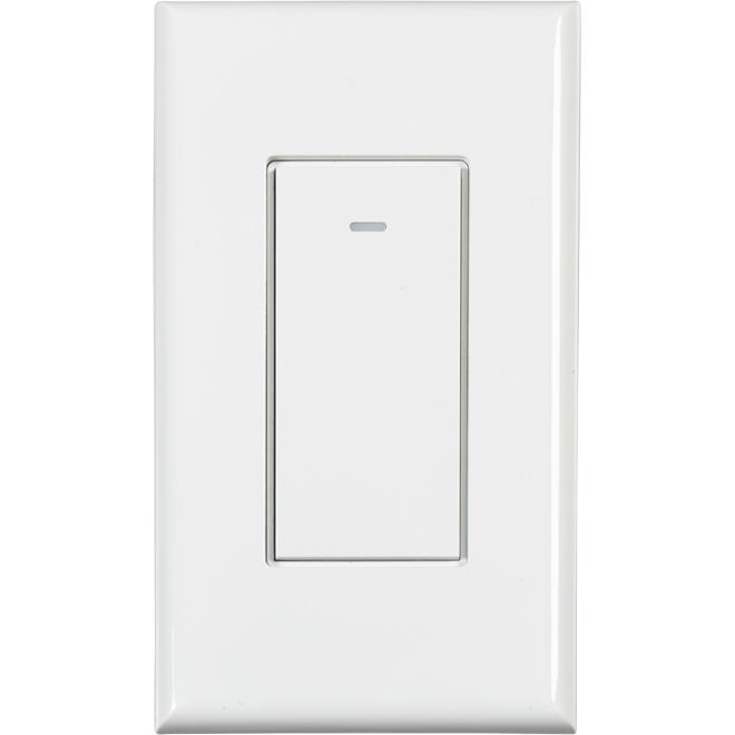 WiFi Single-Pole Switch - 600 W - White