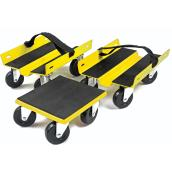 Set of 3 Dollies with Wheels