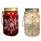 "Battery-Operated LED Mason Jar Lanterns - 6"" - Assorted"