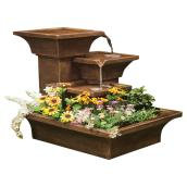 "Garden Fountain - Three-Tiered - 31 1/2"" - Brown"