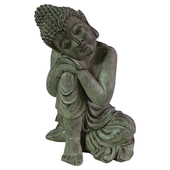 Buddha Garden Statue   Grey