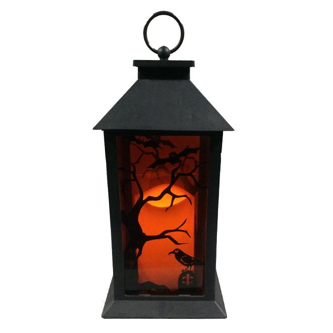 LED Halloween Candle Lantern - 13'' - Orange