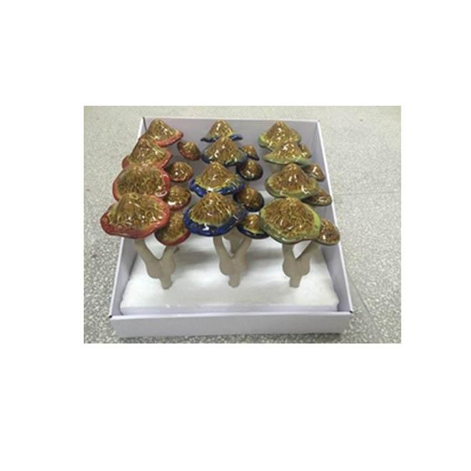 """Ceramic Mushroom Garden Ornaments - 12"""" - Assorted"""